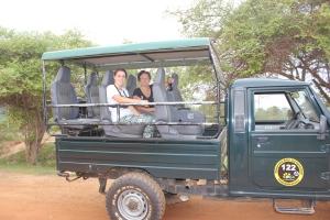 départ en jeep